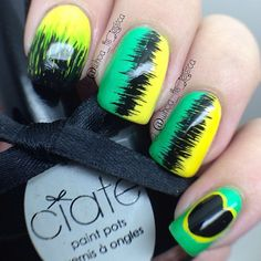 Carribean inspired nail art Nice Nails, Fancy Nails, Perfect Nails, Pretty Nails, Pedicure Nails, Toenails, Manicure, Creative Nail Designs, Creative Nails