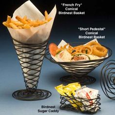 "frying baskets | American Metalcraft BNB5 - Conical Birdnest ""French Fry"" Basket"