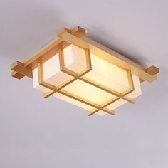 Modern Chinese wall lamp aisle stairs wooden Japanese-style ceiling lamp living room lamp room cozy bedroom bedside lamp: