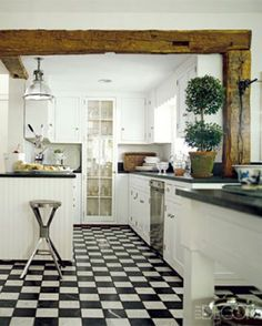 Lovely Floor Everything Rustic White Kitchens Black Kitchen