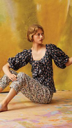 Liberty Ready To Wear 1960s Fashion, Fashion Sewing, Timeless Fashion, Liberty Of London Fabric, Liberty Fabric, Cotton Shirt Dress, Satin Shirt, Button Up Skirts, Satin Midi Skirt