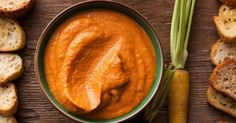 This carrot harissa hummus recipe is easy to make. It's made with carrots and harissa for a spicy, smoky twist on the classic hummus favorite. Carrot Recipes, Dip Recipes, Healthy Recipes, Healthy Food, Best Thanksgiving Appetizers, Easy Carrot Cake, Make Hummus, Cooked Carrots, Tahini