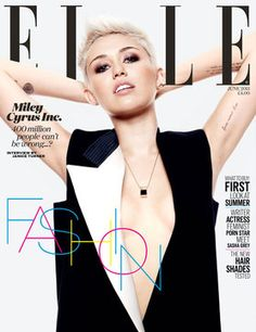Miley Cyrus on the cover of ELLE, June 2013
