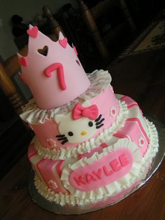 Hello Kitty princess cake by CakeCreationsbyChristy