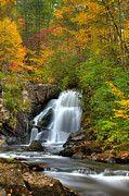 Fall Landscapes Art - Turtletown Creek Falls