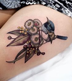 Body – Tattoo's – Sophia Baughan bird and flower tattoo… coolTop Body – Tattoos – Sophia Baughan Vogel- und Blumentattoo … Pretty Tattoos, Cute Tattoos, Unique Tattoos, Beautiful Tattoos, Tatoos, Bird And Flower Tattoo, Flower Tattoos, Flower Bird, Black Bird Tattoo