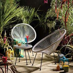 Harp Egg Grey 2 Seat Bistro Set | Dunelm