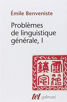 Problèmes de linguistique générale, tome 1 - Emile Benveniste - Livres