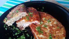 Sütőben sült tepsis bundáskenyér - Salátagyár Diet Recipes, Toast, Pork, Chicken, Breakfast, Healthy, Kitchen, Kale Stir Fry, Morning Coffee