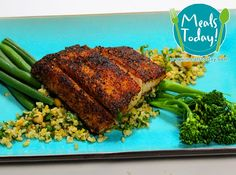 Spice Crusted Fish with Freekah and Vegetables  Available to order now, for delivery on Tue 16th September  www.mealstoday.com    #mealstoday
