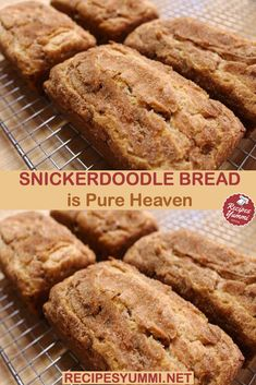 : Snickerdoodle Bread Is Pure Heaven INGREDIENTS cups of flour. 2 tsps of baking powder. ½ tsp of salt. 2 tsps of cinnamon. Easy Desserts, Delicious Desserts, Dessert Recipes, Yummy Food, Healthy Food, Bread Machine Recipes, Bread Recipes, Chicken Recipes, Recipe Chicken