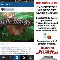 BOYCOTT SIMPLOT GMO POTATOES!  Post on Simplot's FB page and let them know what you think of their GMO potatoes: https://www.facebook.com/jrsimplotcompany  #GMO #Simplot #Potato #GMOPotato #RNAi #labelgmos #boycottGMOs #BANGMOs #NeedtoknowGMO #freedom2chooz #gmofreecanada #gmofreeusa