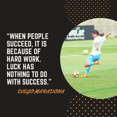 Make your own luck. Soccer Equipment, Training Equipment, Inspirational Soccer Quotes, Portable Soccer Goals, Soccer Inspiration, Soccer Training, Soccer Players, Inspire Me, Work Hard