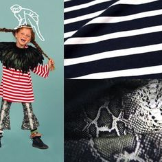 What about some cotton navy stripes and a #snakeskin #print for a happy look today? Stripes jersey by Crispim Abreu and snakeskin print on #velvet by Gierlings Velpor from our portuguese suppliers. Source at www.sewwand.com #FeelTheFabric #stripes #animalprint #fashiondesigner #fashiondesign #fashion #kidswear #kidsfashion #designer #trend #inspiration #navystripes #colorful #sewwand ##cotton #viscose #elastan #fabrics #snakeprint #printsmix #fashionproffesi...