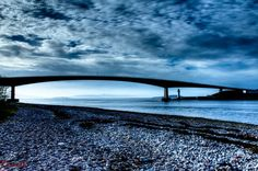 Isle of Skye Bridge, HDR, blue filter