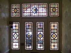 Old stained glass door 50 ideas for 2019 Stained Glass Door, Stained Glass Designs, Stained Glass Projects, Stained Glass Patterns, Victorian Stained Glass Panels, Victorian Front Doors, Victorian Hallway, Victorian House, Window Accessories