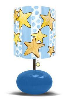 Dots & Stars on Blue BaseChildren's Lamp http://www.babybearsden.com/dostonblbala.html#