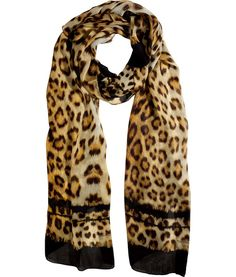 Leo Print Big Silk Scarf