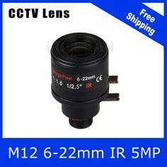 5Megapixel 1/2.5 inch Varifocal Lens 6mm-22mm M12 Mount For OV4689/OV5658 3MP/4MP/5MP AHD/CVI/TVI/IP CCTV Camera Free Shipping