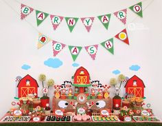 Farm Barn Yard Birthday Party Package Personalized FULL Collection Set - PRINTABLE DIY - PS809CA1x