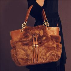 38633ad2bb Gorgeous Brown Fluffy Handbag  gorgeous handbag