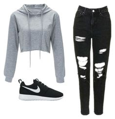 """Liza Koshy"" by mayaali on Polyvore featuring NIKE"
