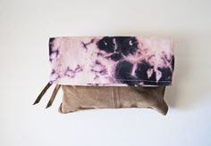 The Jennifer Purple Shibori Dyed Fold Over by aperfectmessvintage, $40.00