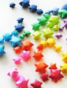 origami lights garland