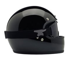 DOT certified retro full face helmet black Biltwell Gringo Helmet