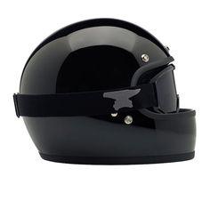 DOT certified retro full face helmet black Biltwell Gringo Helmet
