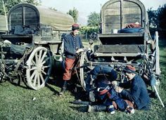 Early WW1; French soldiers of the French 14yh Regiment maintain their equipment. -David Doughty (@DavidWDoughty) | Twitter