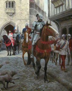 graham turner paintings | THE ARRIVALL' - GRAHAM TURNER'S PAINTING DIARY