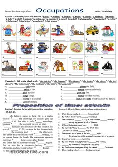 2 Printable Vocabulary Worksheet Online Jobs with keys worksheet Free ESL printable worksheets Worksheets Vocabulary Exercises, Vocabulary Worksheets, English Vocabulary, English Grammar, Teaching English, English Language, Printable Worksheets, English Test, English Lessons