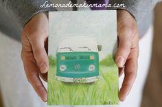 VW Bus postcard (set of ten cards). $18.00, via Etsy.