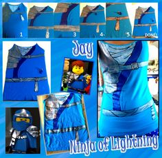 Ninjago Tanks WIP 6: Jay Shirt by Fanfiction-Princess