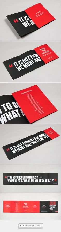 99U Book :: Fold-out Flyer/Poster on Behance - created via http://pinthemall.net