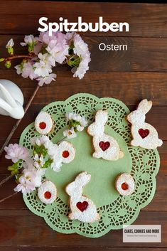 Oster-Spitzbuben - Cakes, Cookies and Easter Cookies, World Recipes, International Recipes, Creative Food, Diy Food, Cake Cookies, Brunch, Kids Rugs, Holiday Decor