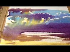 Wet on Wet watercolour demonstration by M J Forster - YouTube