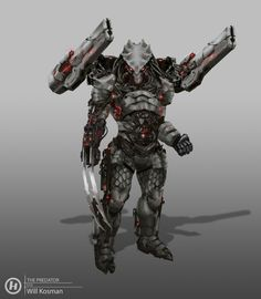 ArtStation - The Predator Killer Concepts, Will Kosman Wolf Predator, Predator Movie, Predator Alien, Arte Alien, Alien Art, Alien Concept Art, Armor Concept, Predator Costume, Space Opera