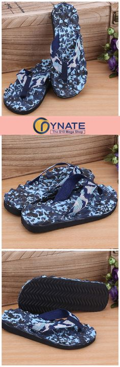 394c0bef8fded Summer Camouflage Blue Indoor Slippers