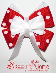 Sassy Minnie Hair Bow by MickeyWaffles on Etsy                                                                                                                                                                                 Mais