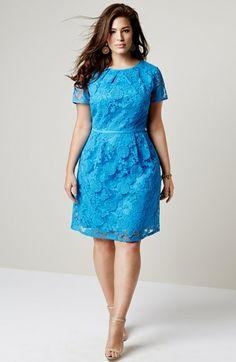 Adrianna Papell 'Pleats' Lace Dress (Plus Size) FREE BRAND NAME FULL-SIZED BEAUTY PRODUCT WITH PURCHASE + FREE SHIPPING #UNIQUE_WOMENS_FASHION