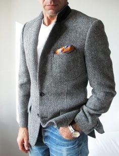 Crew Ludlow Fielding Sportcoat in Harris Tweed Tweed Jacket Men, Harris Tweed Jacket, Mens Overcoat, Tweed Jackets, Suit With Jeans, Sports Coat And Jeans, Sports Jacket, Mens Smart Casual Outfits, Business Casual Attire For Men