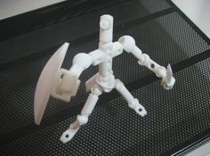 ModiBot Mo V3 poseable figure kit 3d printed Outfitted for adventure- (accessories not included)
