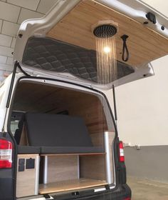 Is this a good addition to a conversion? What do you think. Living in the Caribbean, outside showers were epic. Van Conversion Interior, Camper Van Conversion Diy, Van Interior, T4 Camper Interior Ideas, Ford Transit Camper Conversion, Kombi Interior, Mansion Interior, Interior Design, Camping Diy
