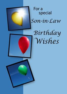 Son In Law Birthday Happy Cards For Men