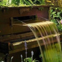 Piano water feature at the Philadelphia Flower Show's 'Jazz Garden'. I don't have a piano, but never thought of making one into a water feature!