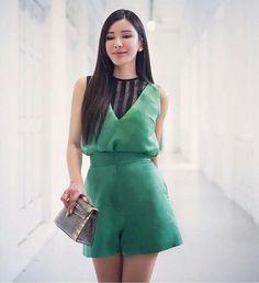 Loving the look. Khun Jamie Chua and PATINYA Ava top, Rita Top and Grace Shorts. Thank you for always keeping us inspired! @ec24m @guitarpatinya  WWW.PATINYABKK.COM  #patinya #patinyaofficial #patinyabkk #fashion #dress #dresses #THAIDESIGNERS #allurepatinya