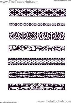 Afbeeldingsresultaat voor maori symbols and meanings tattoos Band Tattoo Designs, Polynesian Tattoo Designs, Maori Tattoo Designs, Arm Tattoos Polynesian, Maori Tattoo Patterns, Maori Band Tattoo, Samoan Tattoo, Symbol Tattoos, Thai Tattoo