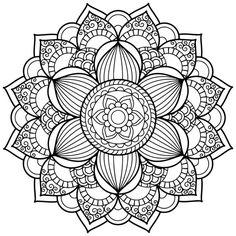 activité de coloriage de mandala à motif floral oriental géométrique